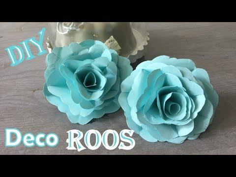🌹 DIY: ROOS maken van PAPIER | Deco roos maken van papier  (Met uitleg!) ✂️ Nederlands
