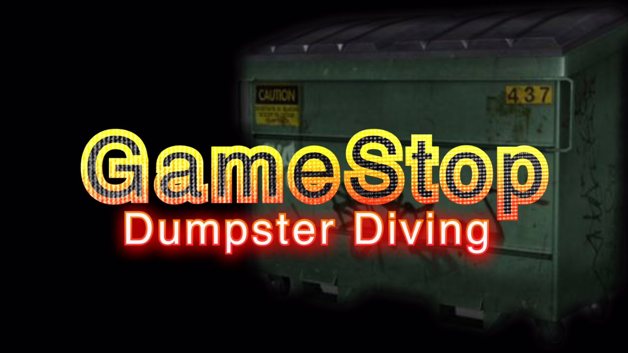Gamestop Dumpster diving Ep.07 Christmas eve edition - YouTube