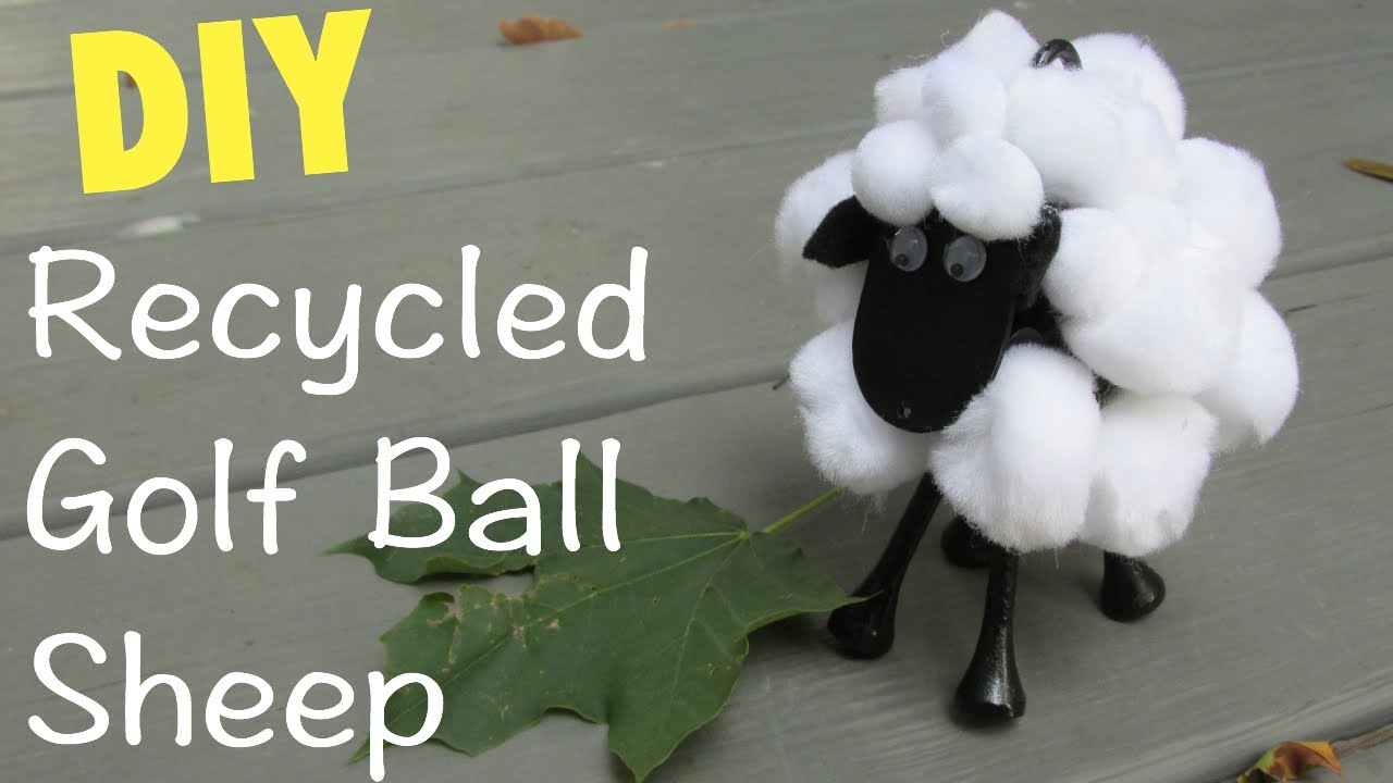 Ordinaire Sheep Golf Ball DIY Recycling Craft Series Craft Klatch   YouTube