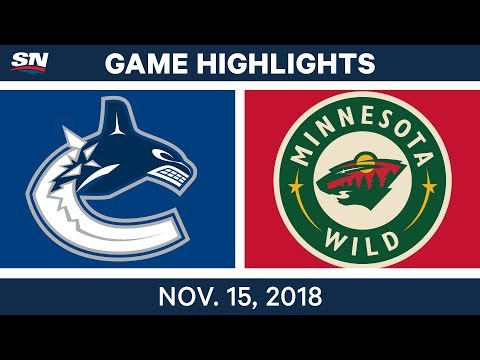 NHL Highlights | Canucks vs. Wild – Nov. 15, 2018