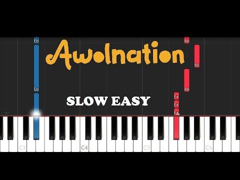 Awolnation - Sail (SLOW EASY PIANO TUTORIAL)