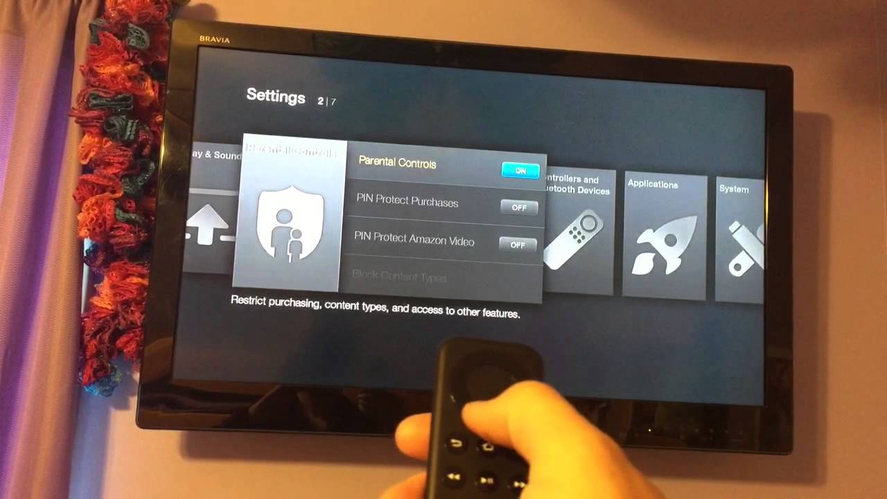how to put parental control on firestick