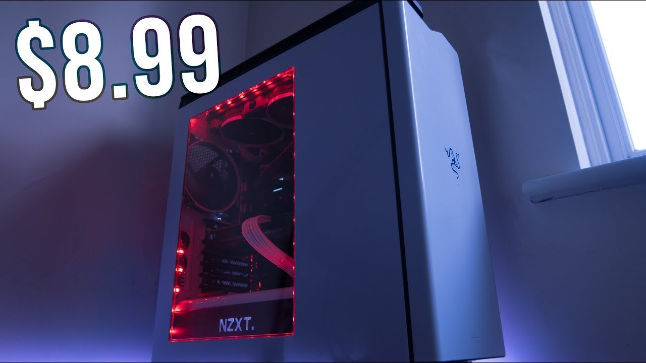 Budget PC RGB Case Lighting | USB LED Light Strip Setup & Review | NZXT H440
