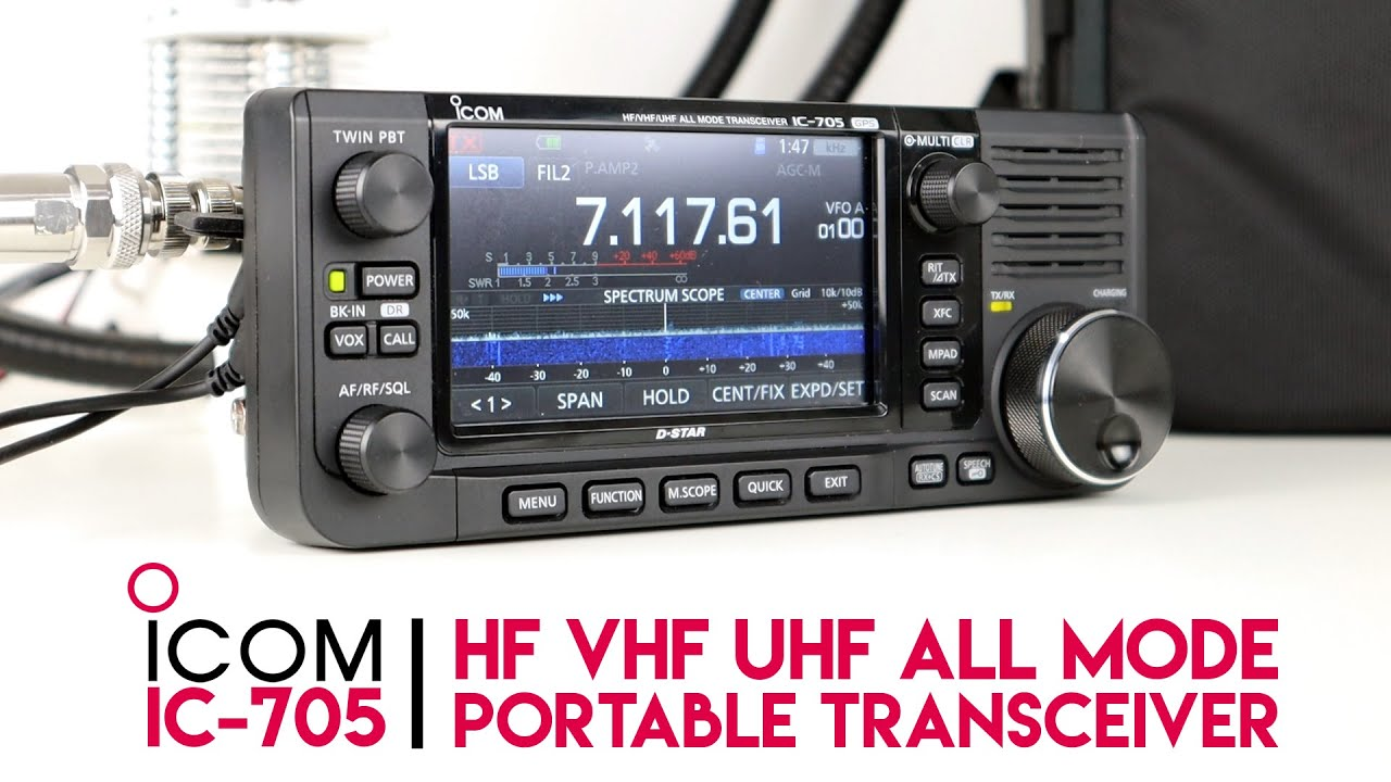 An In Depth Look At ICOM IC-705 HF VHF UHF QRP Transceiver
