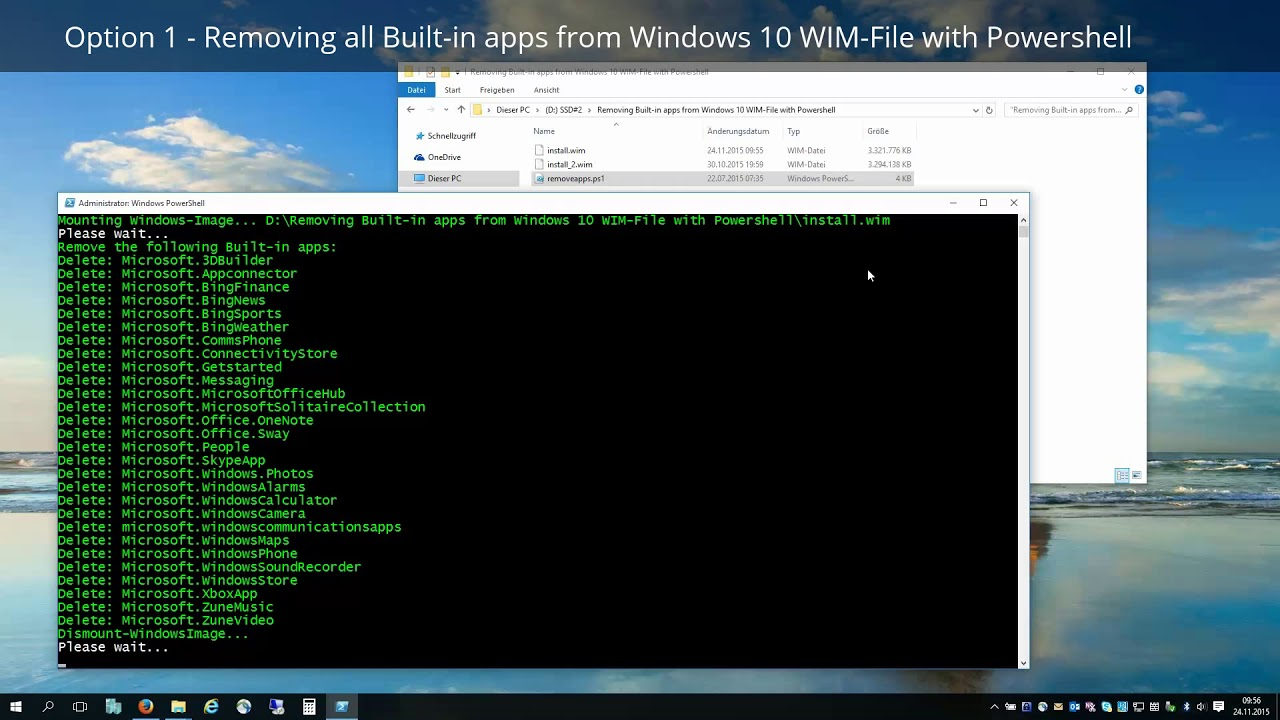 Remove built-in Windows 10 apps for all users using