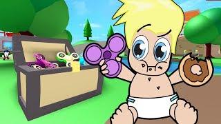 Primo Violino Spinner del bambino e giorno della ciambella in Roblox / Avventure di Baby Alan / Gamer Chad RolePlay
