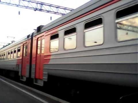 Отправление электрички ЭД9М 0040 Глубокая - Черемхово ( ст. Иркутск пассажирский )