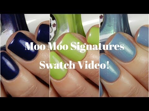 Moo Moo Signatures Super Heros Duo and Existing Colors Live Swatch!