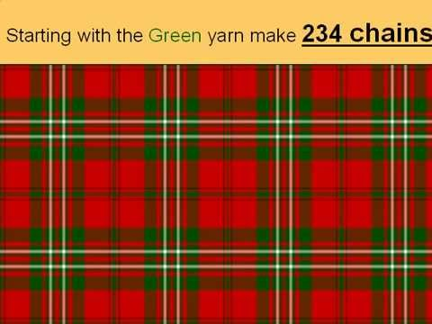 Crochet Scott Clan Tartan blanket/plaid