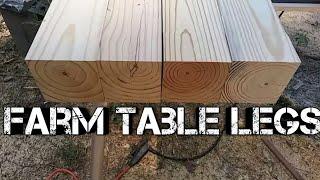 Farm table build diy homemade table legs