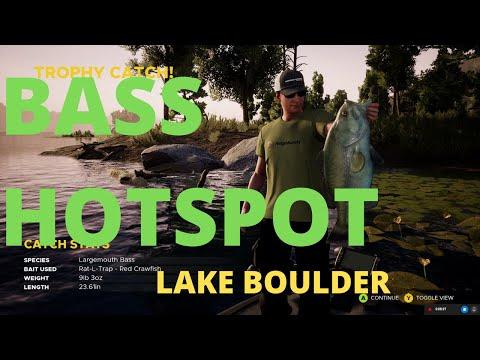 Lake Boulder Bass Hotspot - Bob's Marina - Exciting Last Second Win! Fishing Sim World Pro Tour 2020