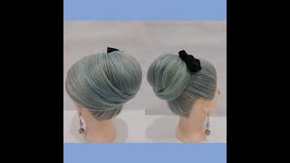 ОЧЕНЬ ЛЕГКАЯ прическа на тонкие волосы ВЫСОКИЙ ПУЧОК VERY LIGHT hairstyle for thin hair HIGH BUN