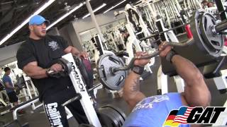 Team GAT athletes Big Ramy & Dennis James Train Arms