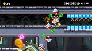 [Speedrun]Mario speedrun 50S: Beating Super Mario Maker's SUPER EXPERT Levels!