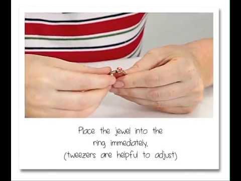 How to fix a ring? UHU Super Glue gel - UHU sekundenkleber gel - English text