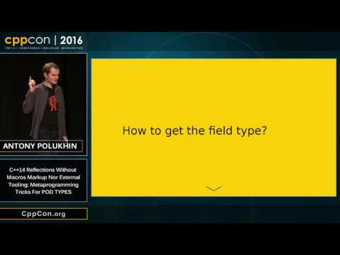 "CppCon 2016: ""C++14 Reflections Without Macros, Markup nor External Tooling.."""