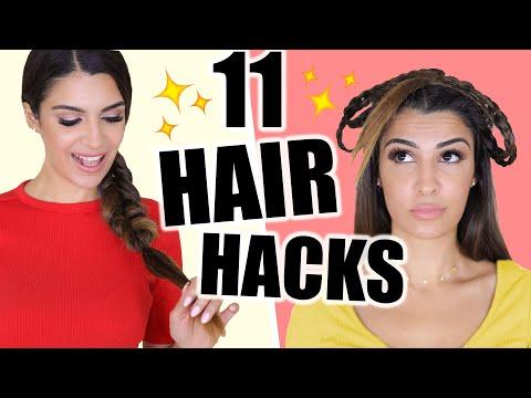 11 HAIR HACKS FÜR DIE COOLSTEN HAIRSTYLES 💕 FÜR FAULE, SCHUL FRISUREN, VOLUMEN 💁🏻♀️ | KINDOFROSY thumbnail