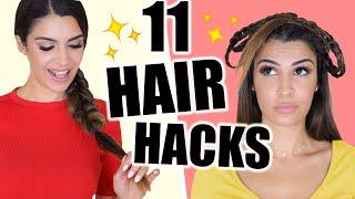11 HAIR HACKS FÜR DIE COOLSTEN HAIRSTYLES 💕 FÜR FAULE, SCHUL FRISUREN, VOLUMEN 💁🏻♀️ | KINDOFROSY