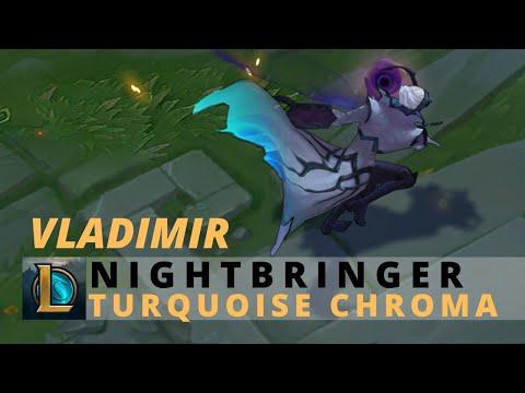 Nightbringer Vladimir Turquoise Chroma - League Of Legends