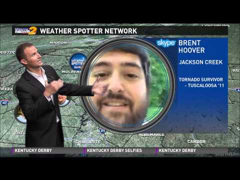 Brent Hoover Skypes LIVE during WFMY's 6pm Weather Segment