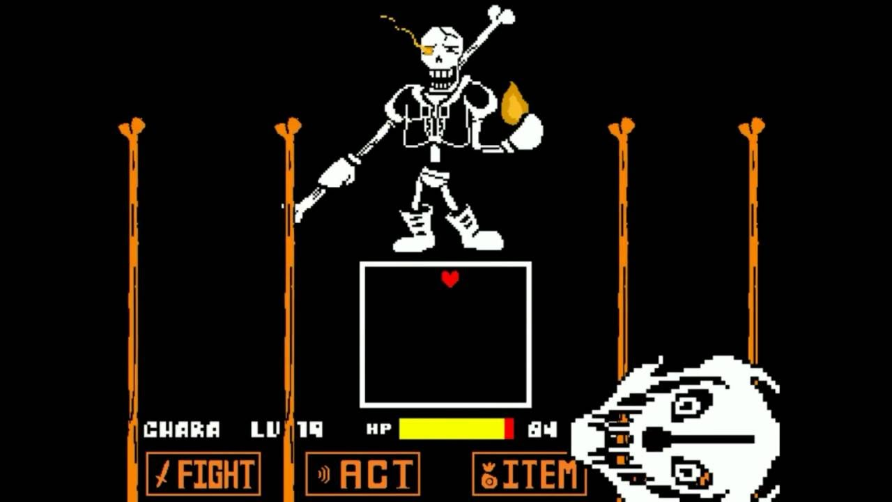 Unitale Disbelief Genocide Papyrus戦(undertale fangame ...