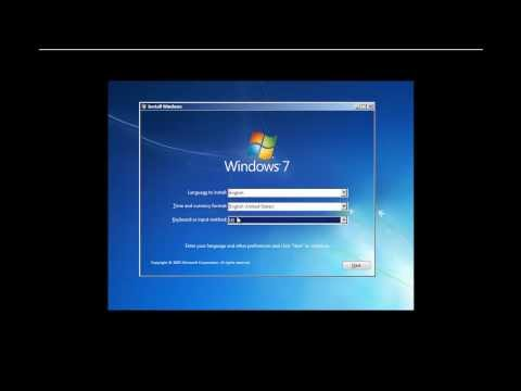 How To Install Windows 7 - ARABIC