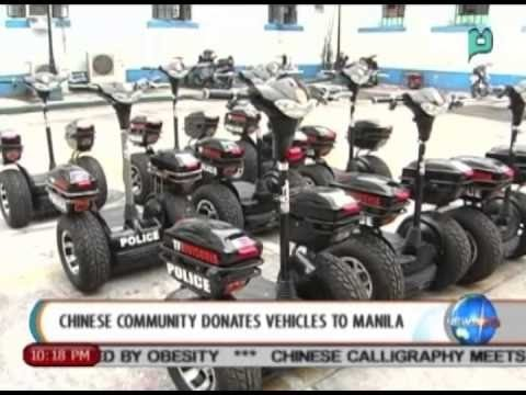 Segscooter donates  12  segscooter to Manila Police Department