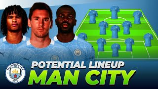 MANCHESTER CITY POSSIBLE LINE UP NEXT SEASON 2020/21 ft. Lionel Messi, Koulibaly, Aké, Torres
