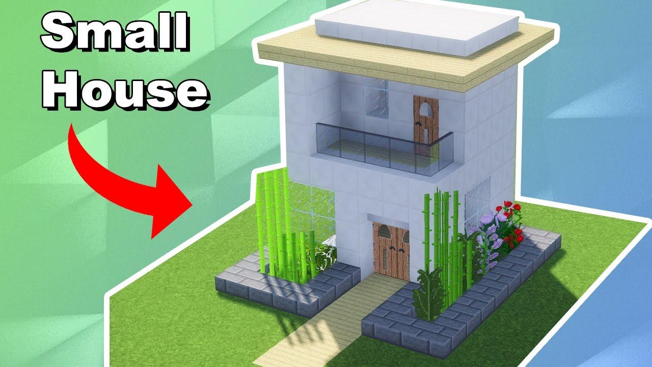 Minecraft como fazer uma casa moderna pequena youtube for Casa moderna 1 8
