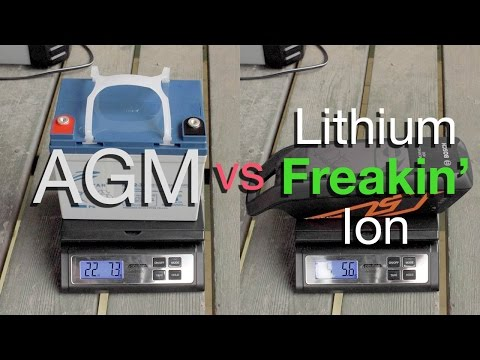 AGM vs Lithium Ion - Battery Weight