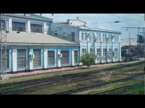 Станция Кавказская из окна электропоезда