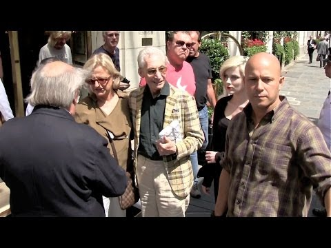 Bill Wyman and Charlie Watts at the Bristol Hotel in Paris