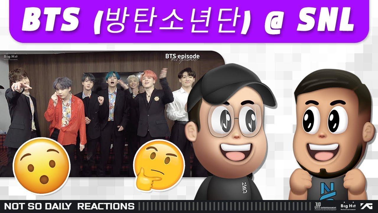 NSD REACT | BTS (방탄소년단) @ SNL (Bangtan Bomb)