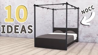 BASE GAME: 10 BEDS | Functional Furniture | Tutorial | No CC or Mods | The Sims 4