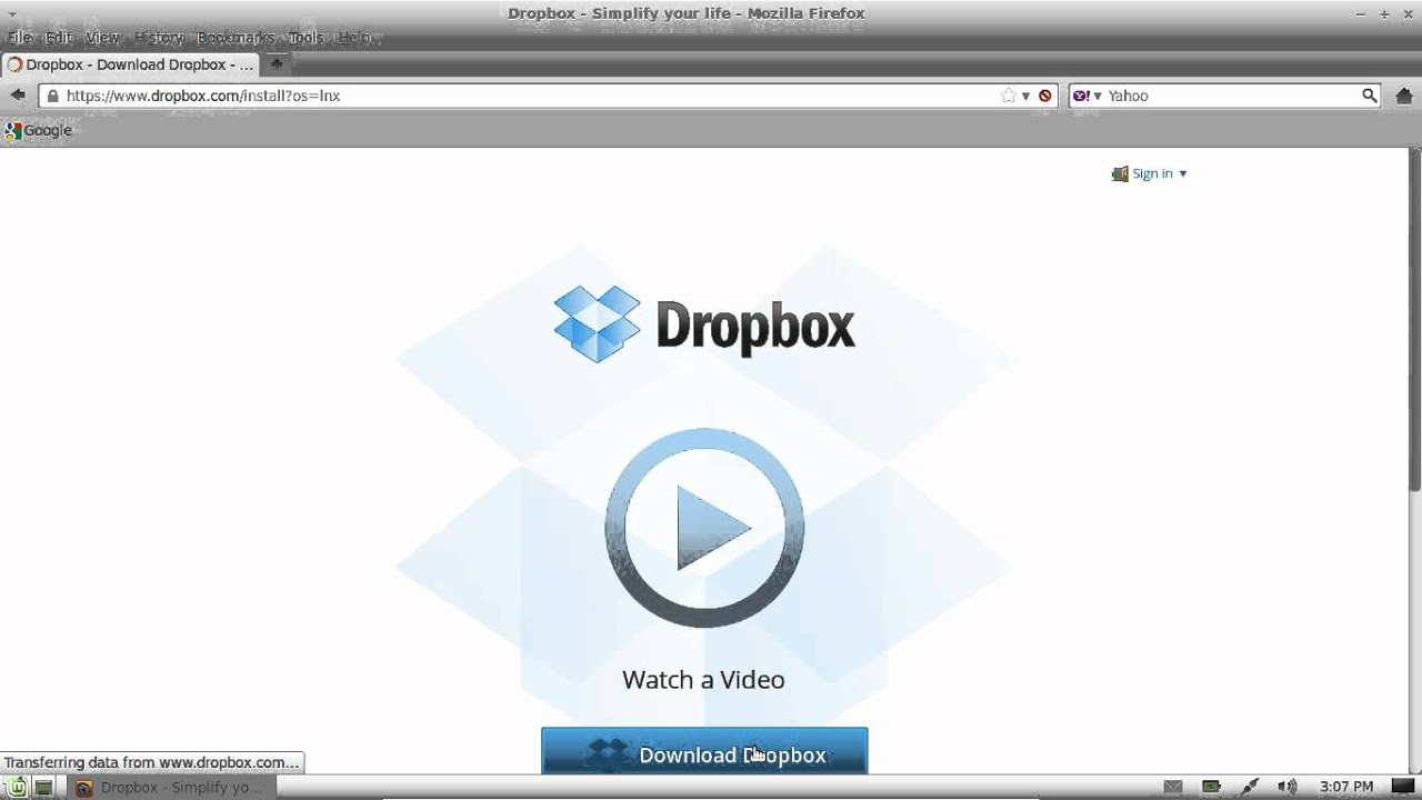 install the latest dropbox in linux mint 13