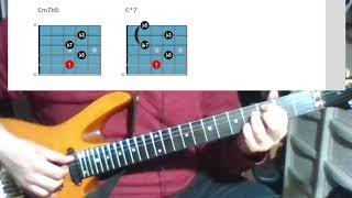 [재즈기타 연습 4] 기본코드 폼4 (5번줄 루트 하프…