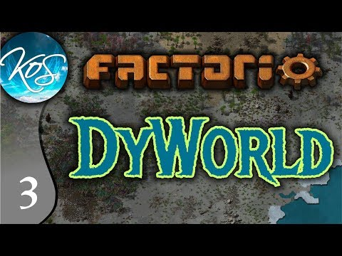 Factorio DyWorld Ep 3: ACORN CRISIS - Conversion Mod Let's Play, Gameplay