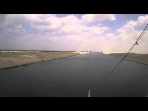 Suezkanal Durchfahrt in 100 Sekunden / Suez Canal passage in 100 seconds