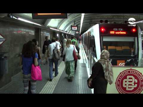 Concentració de la plantilla dels Ferrocarrils de la Generalitat de Catalunya