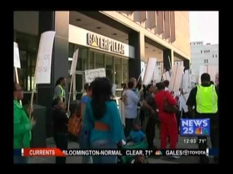 Stand Up! Peoria Fair Tax Rally: Caterpillar CEO Must Pay Fair Share
