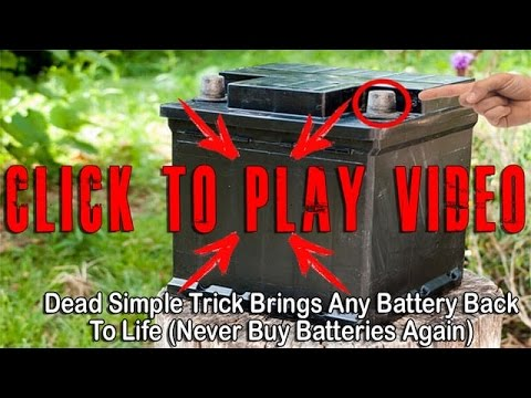 Secret Reveals Dead Simple Trick Brings Any Battery Back To Life (Never Buy Batteries Again)