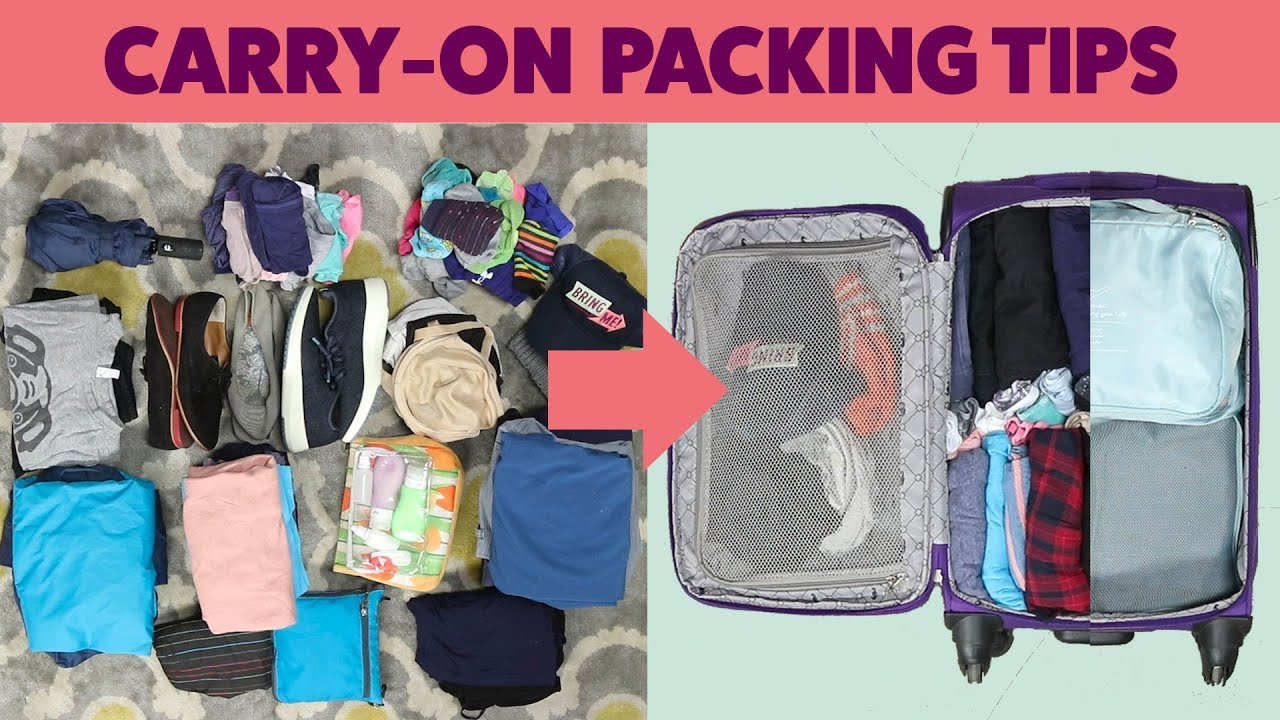 how to pack for two weeks in a carry on