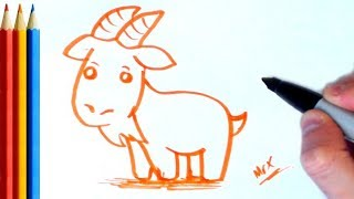 How to Draw Goat (easy) - Step by Step Tutorial For Kids