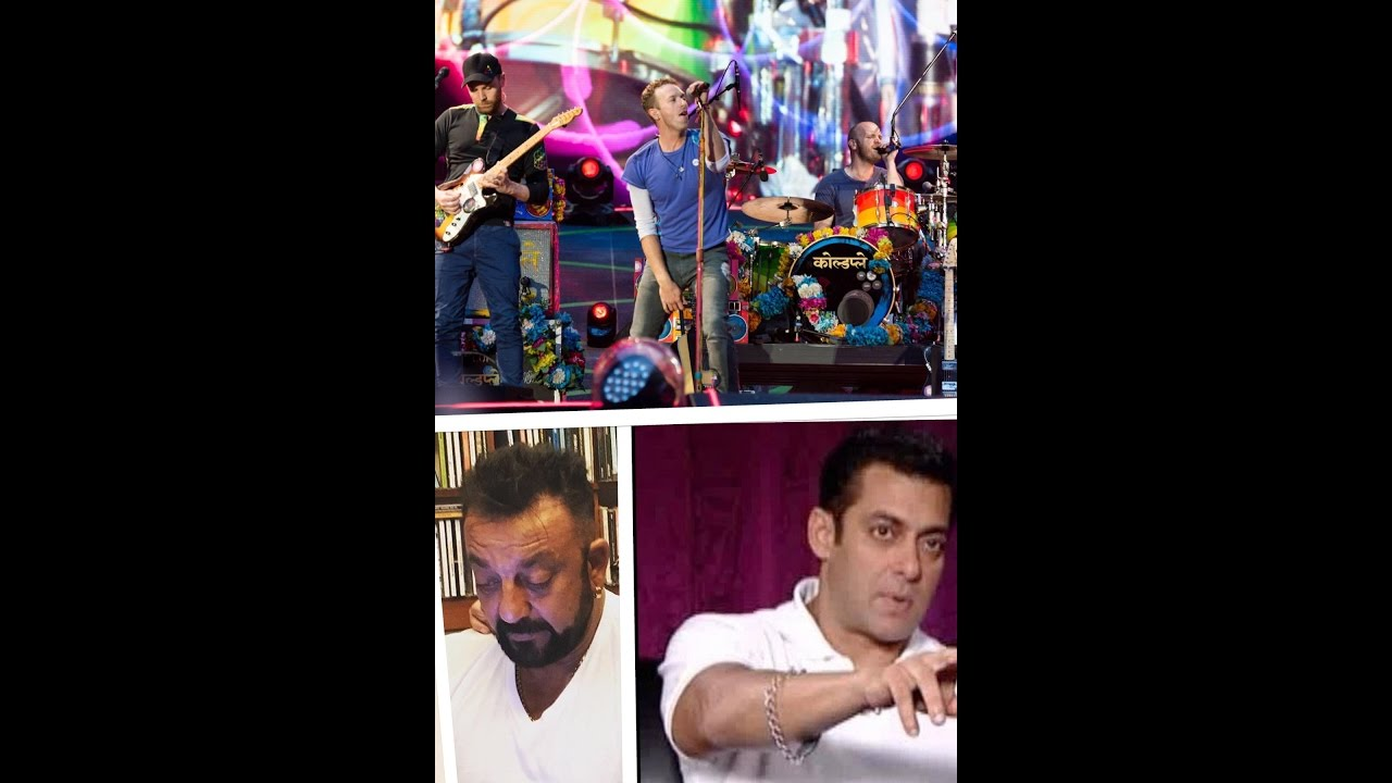 Coldplay concert Mumbai Live with Salman Khan and Sanjay Dutt