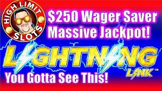 High Limit ⚡Lightning Link Slot Machine $250 Max Bet Bonus HUGE JACKPOT