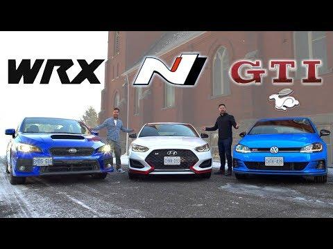 2019 Veloster N vs Golf GTI vs Subaru WRX // The $30K Question