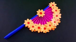 How to Make Easy Paper Fans with Kids - Easy DIY Crafts