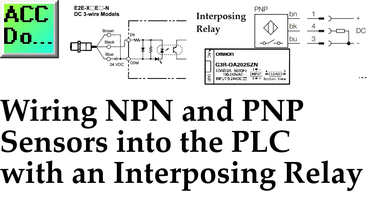 wiring npn and pnp sensors into the plc with an interposing relay rh youtube com interposing relay panel wiring diagram Control Relay Wiring Diagram