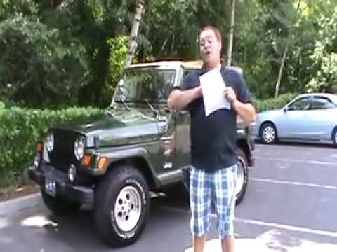 1998 Jeep Wrangler For Sale >> FOR SALE:1998 Jeep Wrangler Sahara 4X4 - YouTube