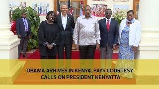 Obama arrives in Kenya, pays courtesy call on President Kenyatta